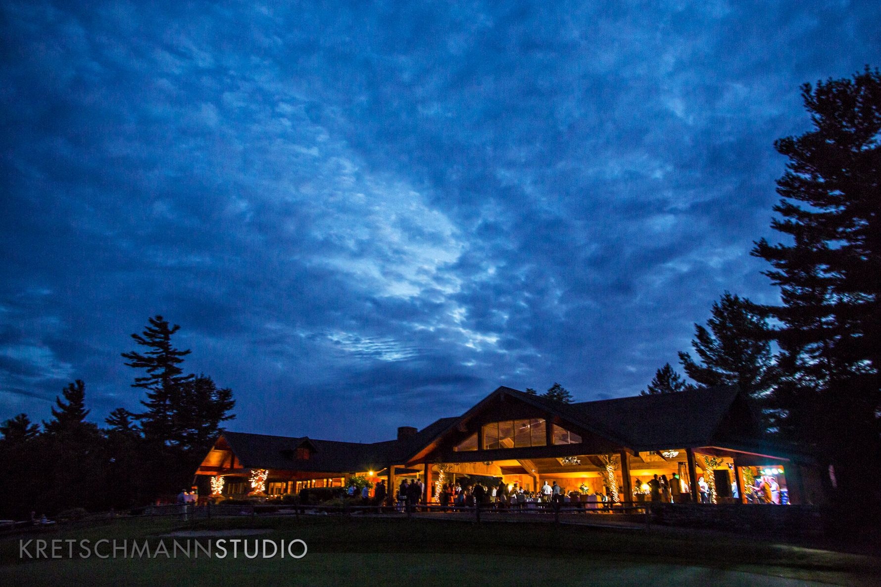 The golf house at the Lake Placid Club for a wedding reception