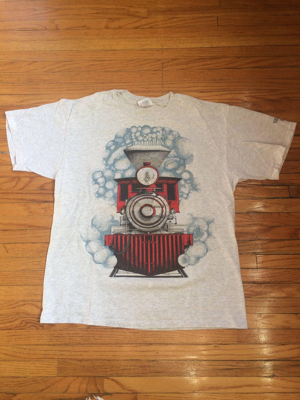 Vintage Virginia City Nevada Steam Engine Train T-Shirt by VintageVanShop on Etsy