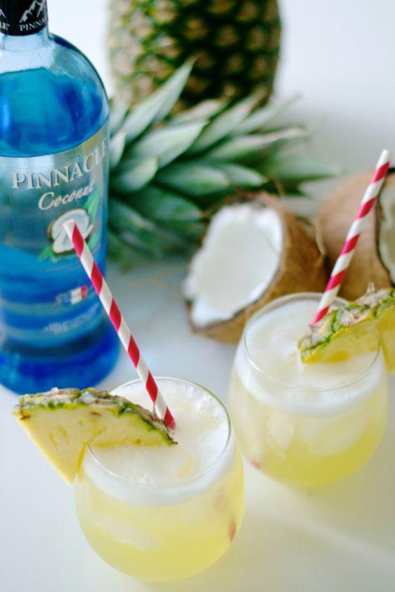 skinny pina colada recipe, pinnacle vodka, sage + sparkle 13