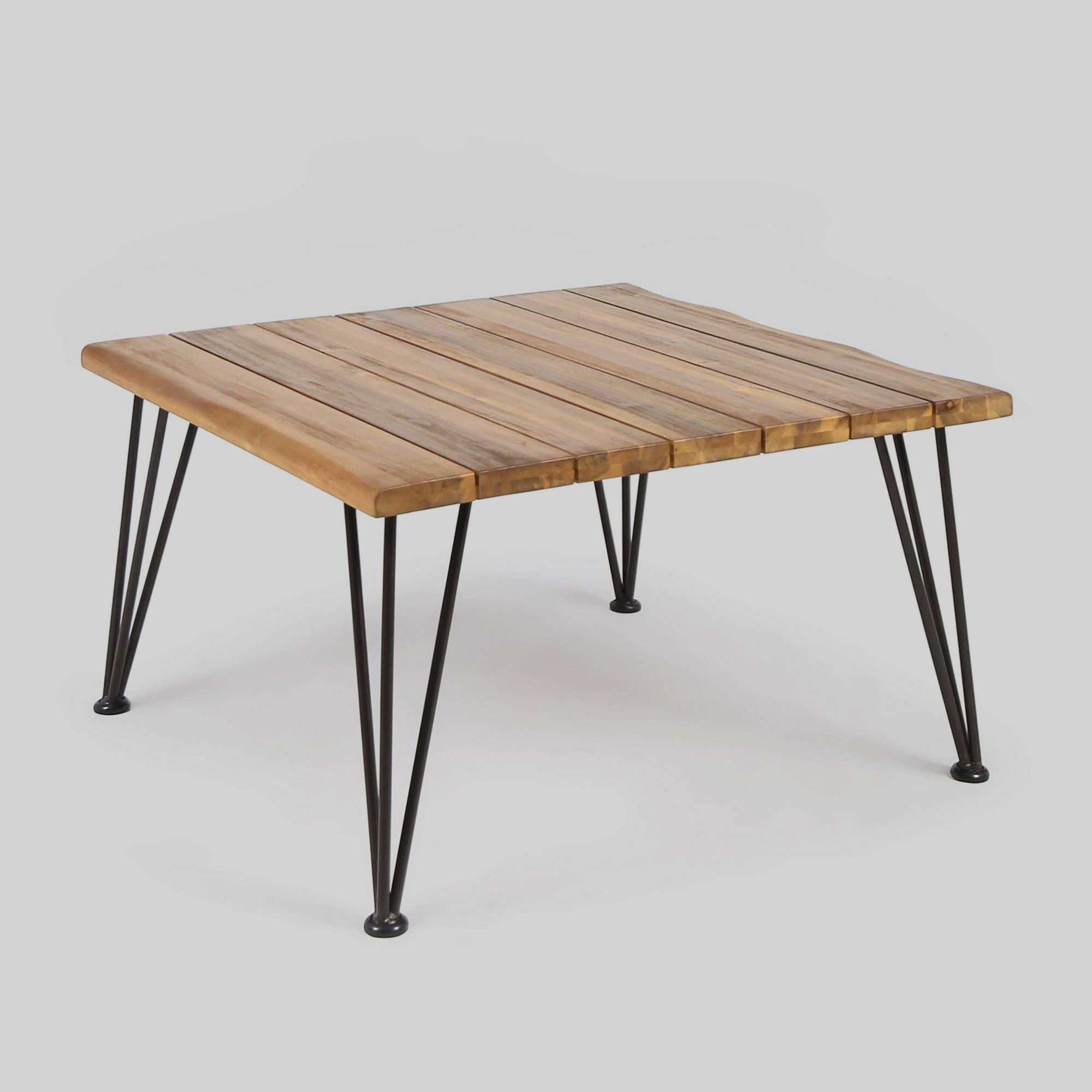 Zion Acacia Wood Square Patio Coffee Table Teak Christopher