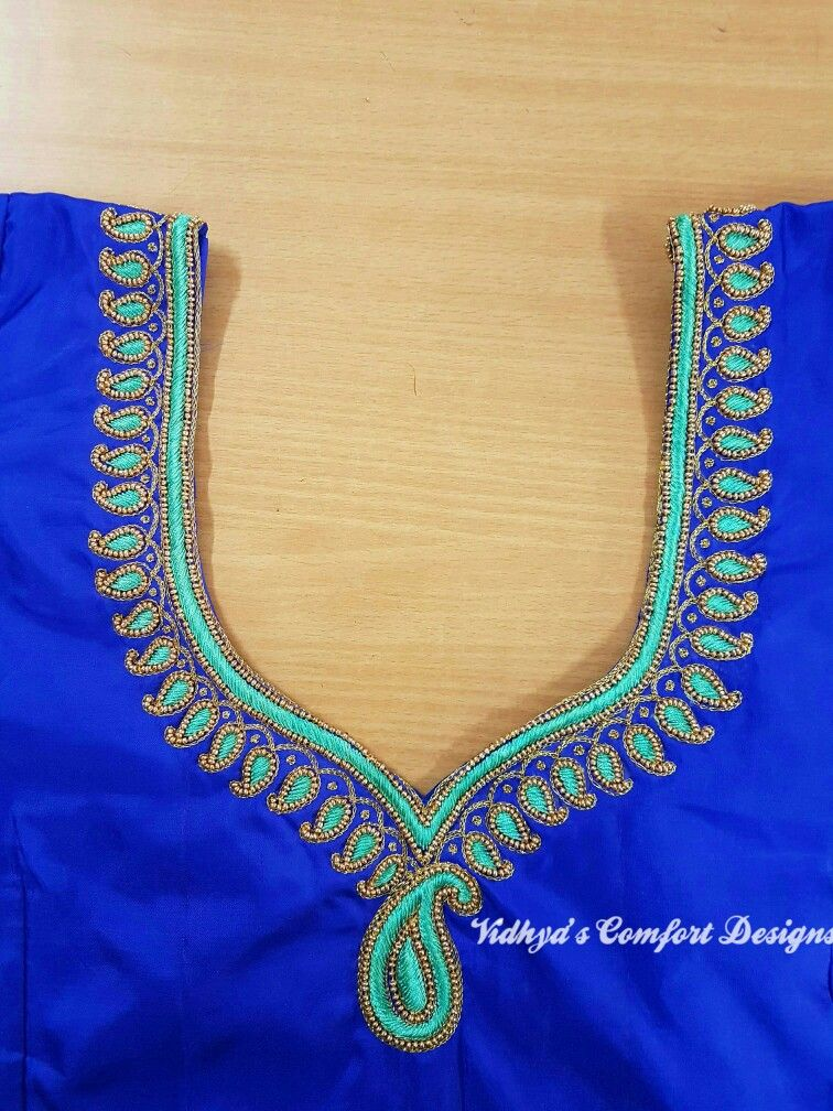 Pin By Nalini Anbarasu On Hand Embroidery Aari In 2019 Blouse
