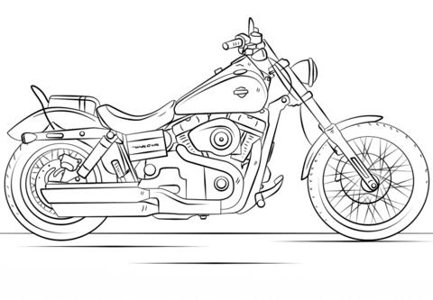 Harley Davidson Motorcycle Kleurplaat Kleurplaten Jongens