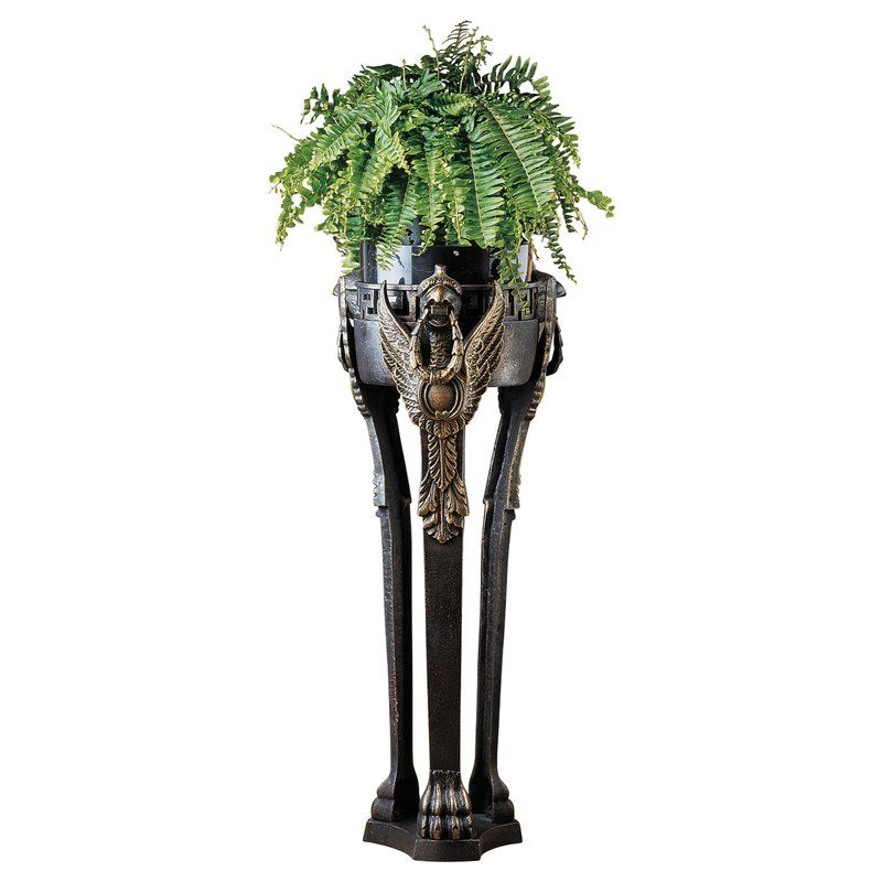 French Neoclassical Griffin Pedestal Plant Stand By Design Toscano Plant Vase Plant Stand Antique Cast Iron