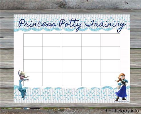 Frozen Princess Elsa Anna Potty Chart