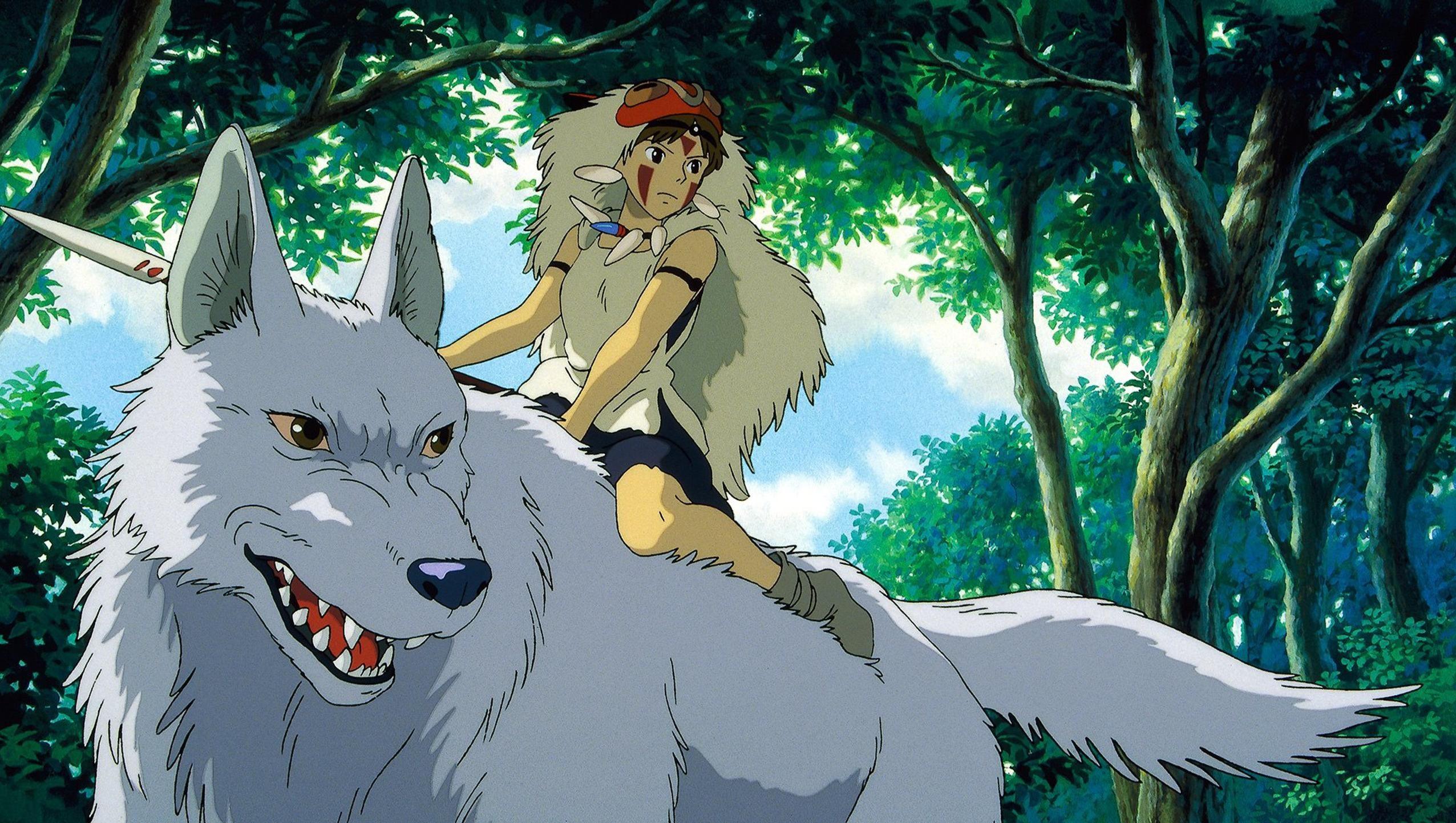 Princess Mononoke 1997 Desktop Wallpaper Moviemania Studio Ghibli Movies Studio Ghibli Studio Ghibli Art