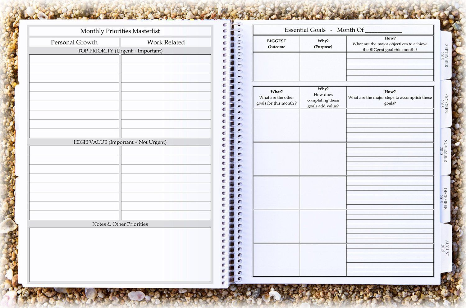 amazon com tools4wisdom planner 2015 2016 calendar daily