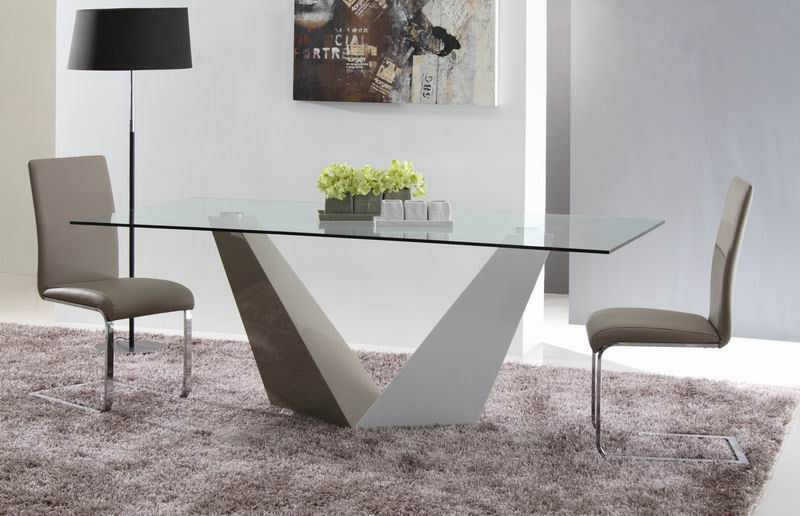 Stylish Design Furniture Vertex Contemporary Glass Dining