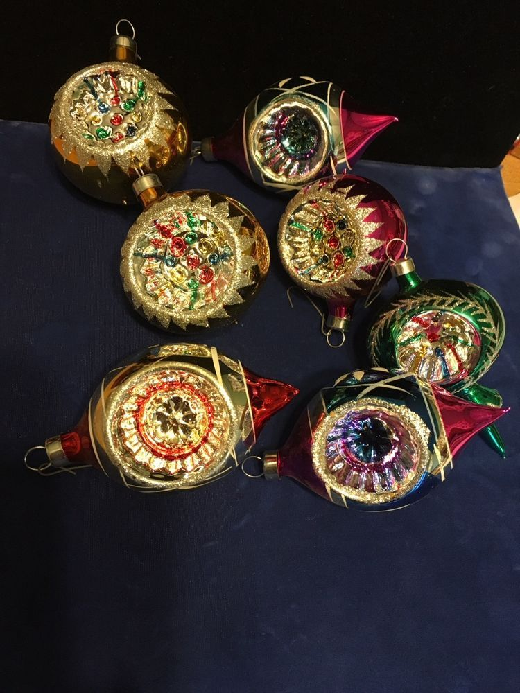 vintage mercury glass christmas ornaments ebay