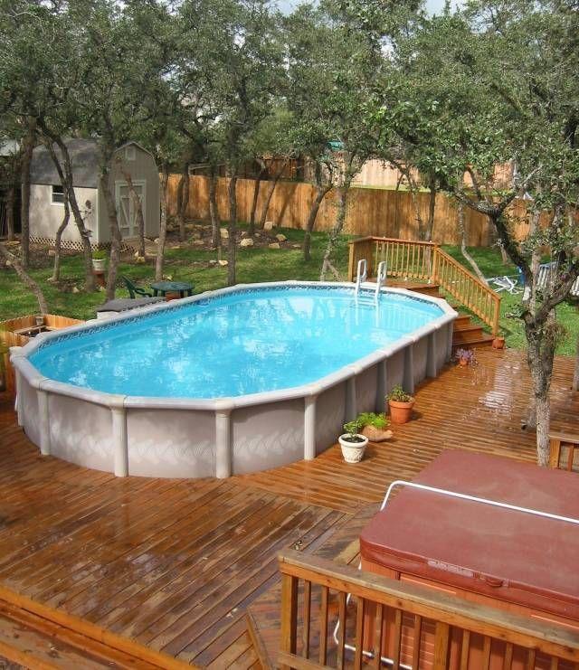 amenagement piscine bois semi enterree piscine hors sol les top 5 - Amenagement Piscine Hors Sol Bois
