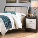 Monterey Queen-Size Headboard with Wood Frame and Mouse Upholstery in Espresso (Brown)