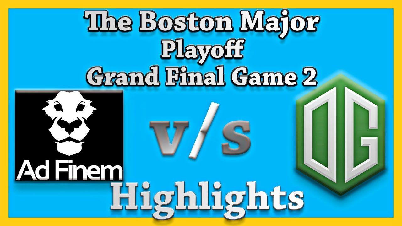 OG vs Ad Finem Game 2 Grand Finals Boston Major Dota 2 Highlights Update  7.0 #