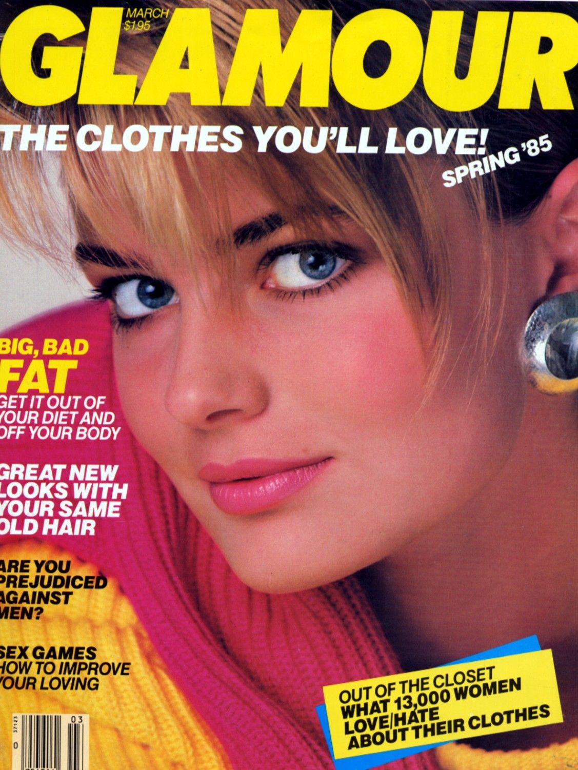 Editorial Glamour Makeup Professional Makeup Artist: Paulina Porizkova - Glamour March 1985