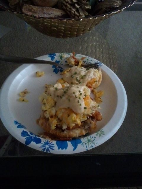 My play on biscuits and gravy