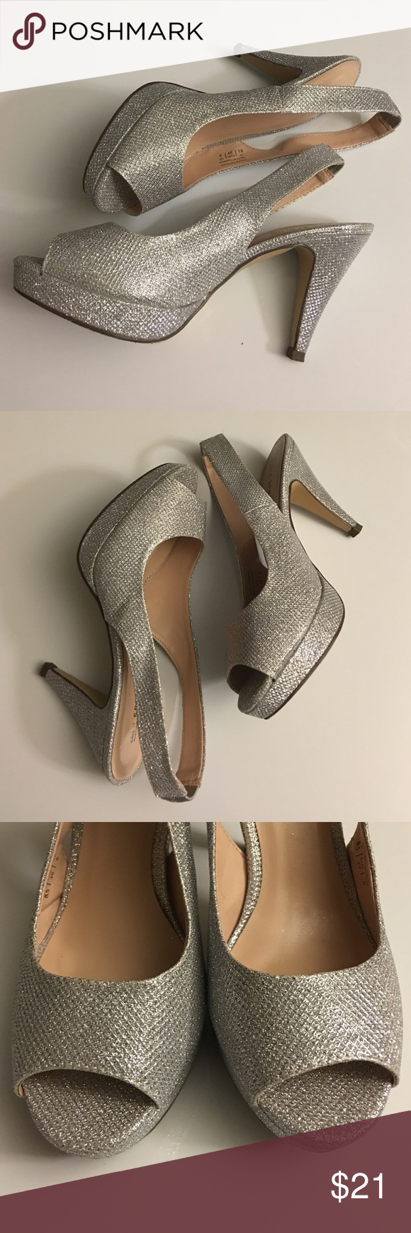 Call It Spring Heels The Evelaine in silver. Worn once to my sister's wedding last month for a few hours. I'll probably never need them again. Aren't homecoming's coming up right around the corner?! Call It Spring Shoes Heels