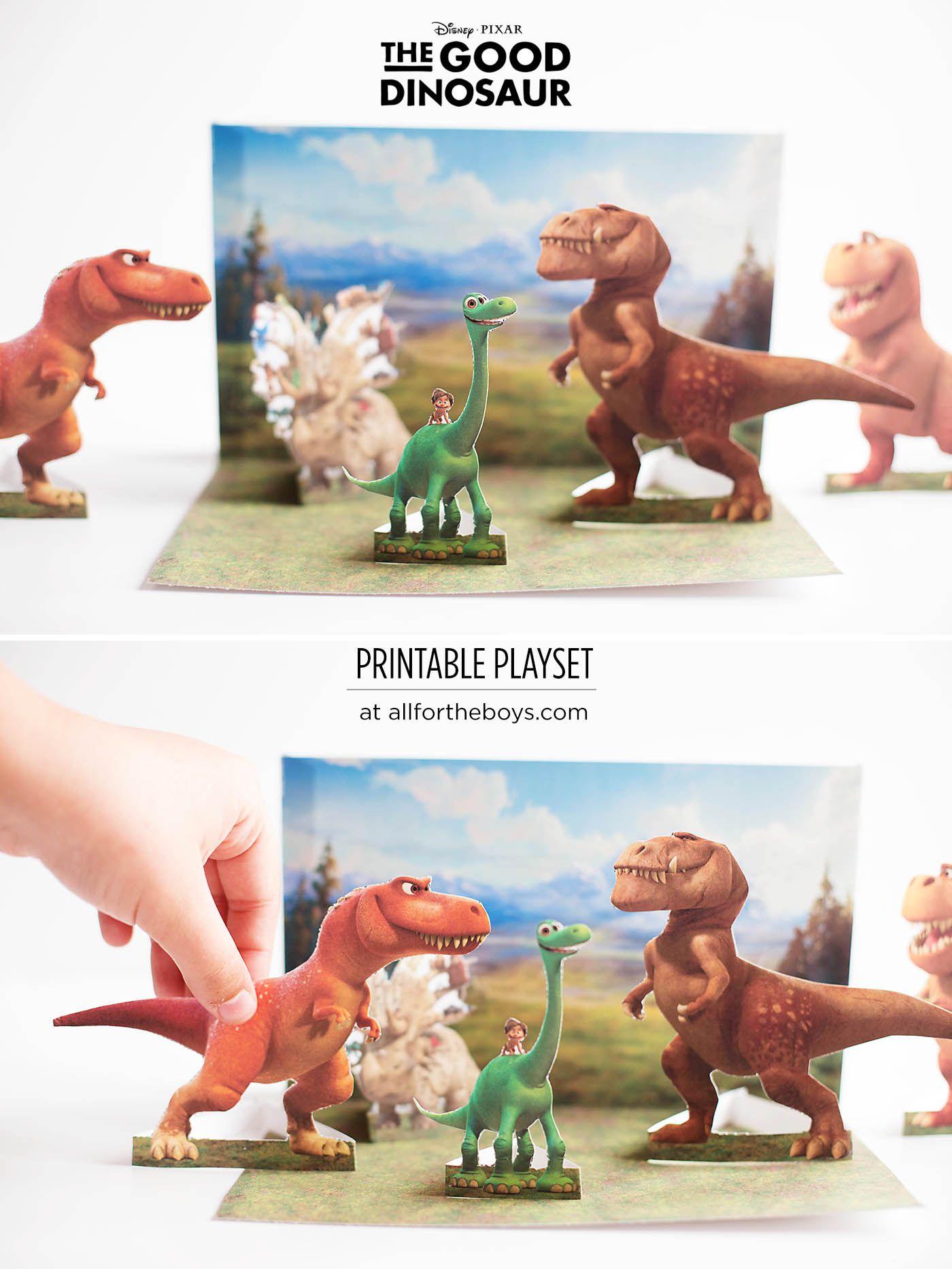 The Good Dinosaur Free Printable Playset Amp Game