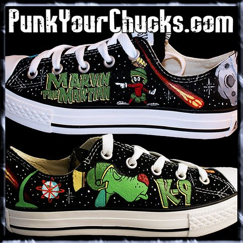 Marvin the Martian Low Top Custom Converse Sneakers