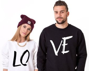 His and hers, LOVE Couples sweatshirts, Couples Sweatshirts, LOVE Matching Couples sweatshirts, UNISEX