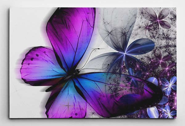11 Awesome Purple Butterflies White Background Images Purple Canvas Art Butterfly Art Painting Butterfly Canvas