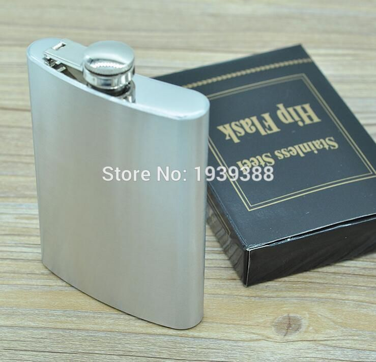 Stainless Steel Camping Hip Flask For Gin Whisky Liquor Screw Cap Wine Pot Gift
