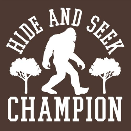 33d15b663 Bigfoot - Hide And Seek Champion T-Shirt | Message Ts | Bigfoot ...