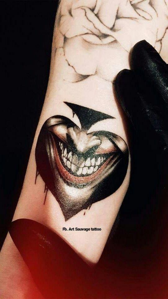 Tattoo Joker Tattoo Tatuaje Joker Tatuajes Del Guason Tatuaje
