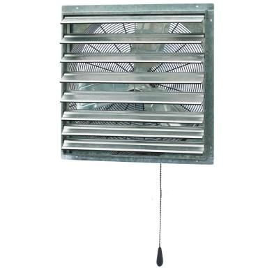 Iliving 5100 Cfm 30 In Power Exhaust Shutter Attic Garage Grow Fan With 2 Speed Thermostat 6 Ft L 3 Plugs Cord Silver Shutters Plugs Exhausted