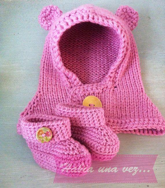 Conjunto gorro osito y botines para bebés on Etsy, US$27,00