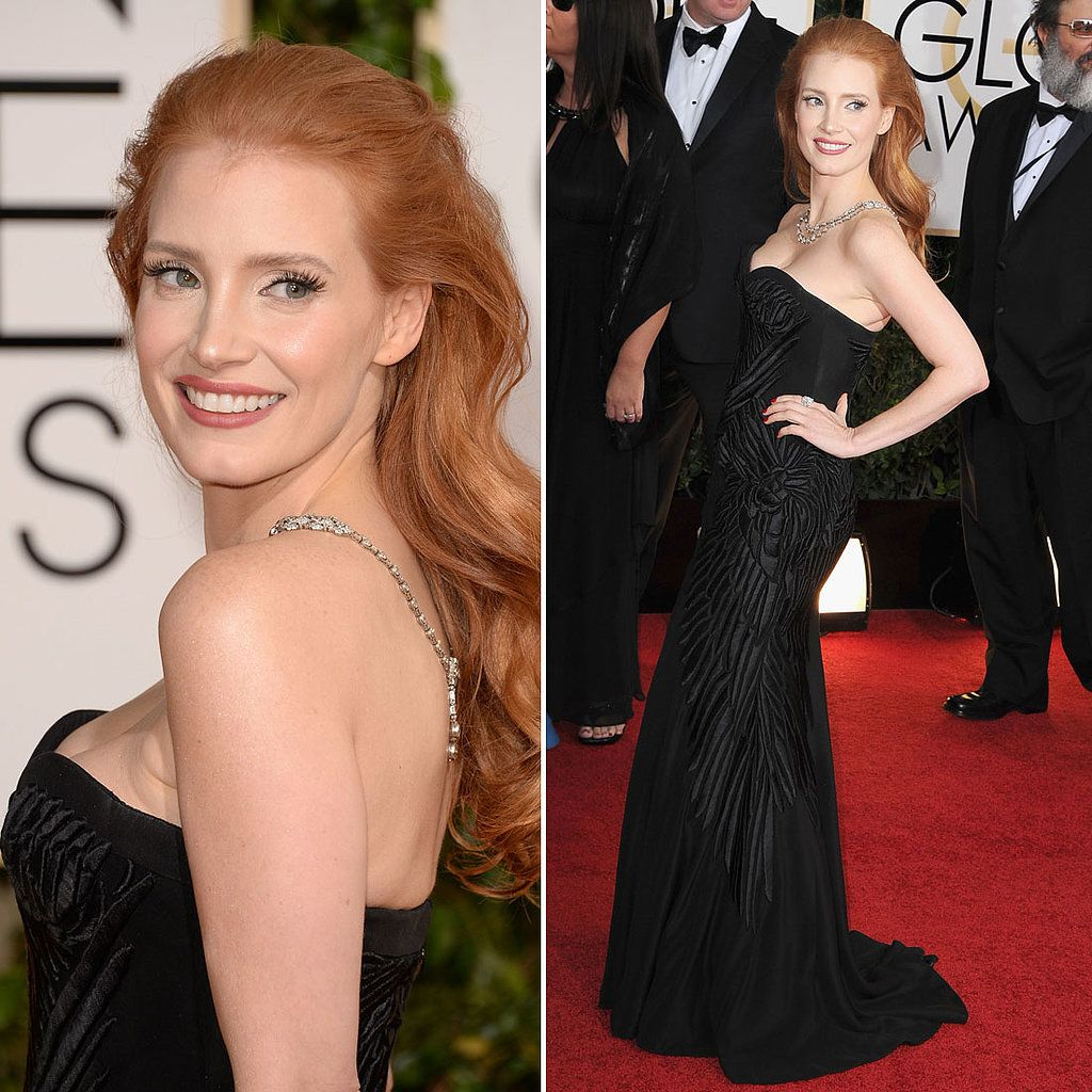 Jessica chastain channels old hollywood again u do you like red
