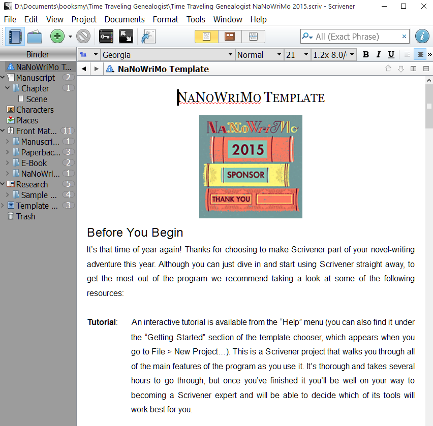 nanowrimo novel template for scrivener  with images