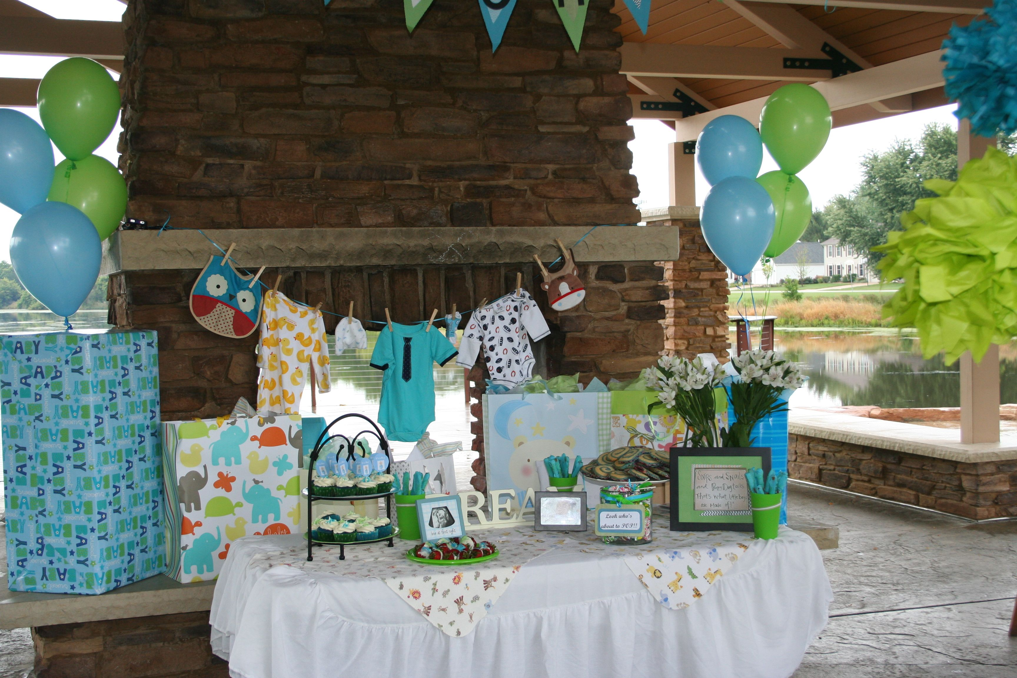 Outdoor Baby Boy Shower Table Ideas Parties And Showers In 2019