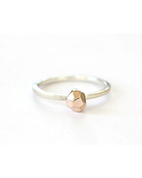 Modern-minimalist 'Sunset Rocks' ring
