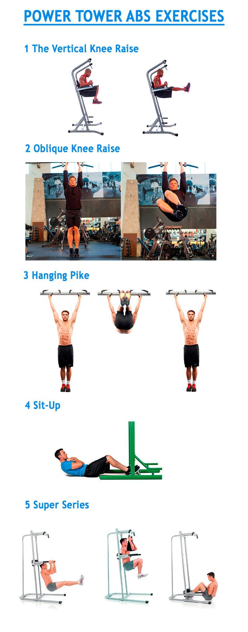 Power Tower ABS Exercises - basic methods of training the abdominal muscles #powertower #powertowerworkout #workout