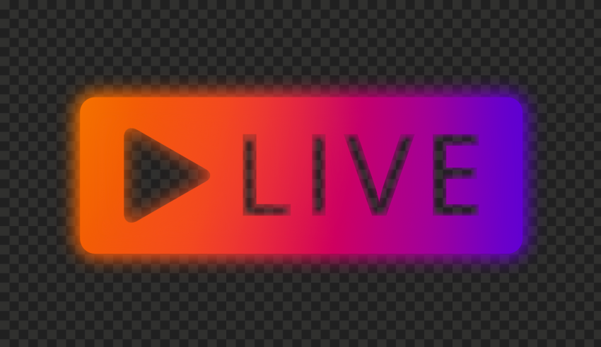 Hd Instagram Neon Live Stream Button Play Png In 2021 Streaming Instagram Neon