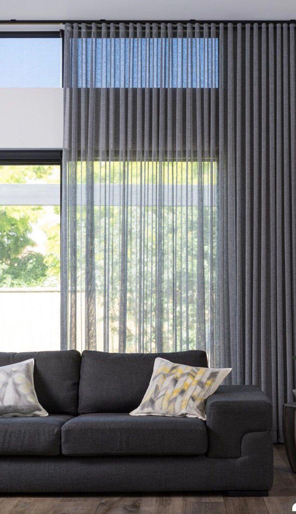Custom Sheer Ripple Fold Drapery Panel Pulse Drapery System Gray Off White Sheer Condo Drapes Sheers Curtains Living Room Curtains Living Room Curtains Living