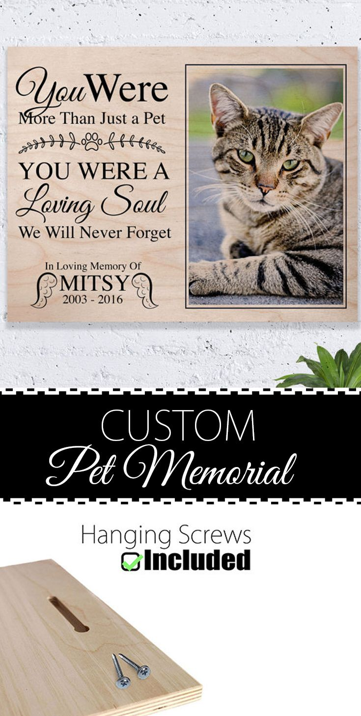Cat Memorial, Pet Memorial, Photo On Wood, Pet Memorial Frame, Pet ...