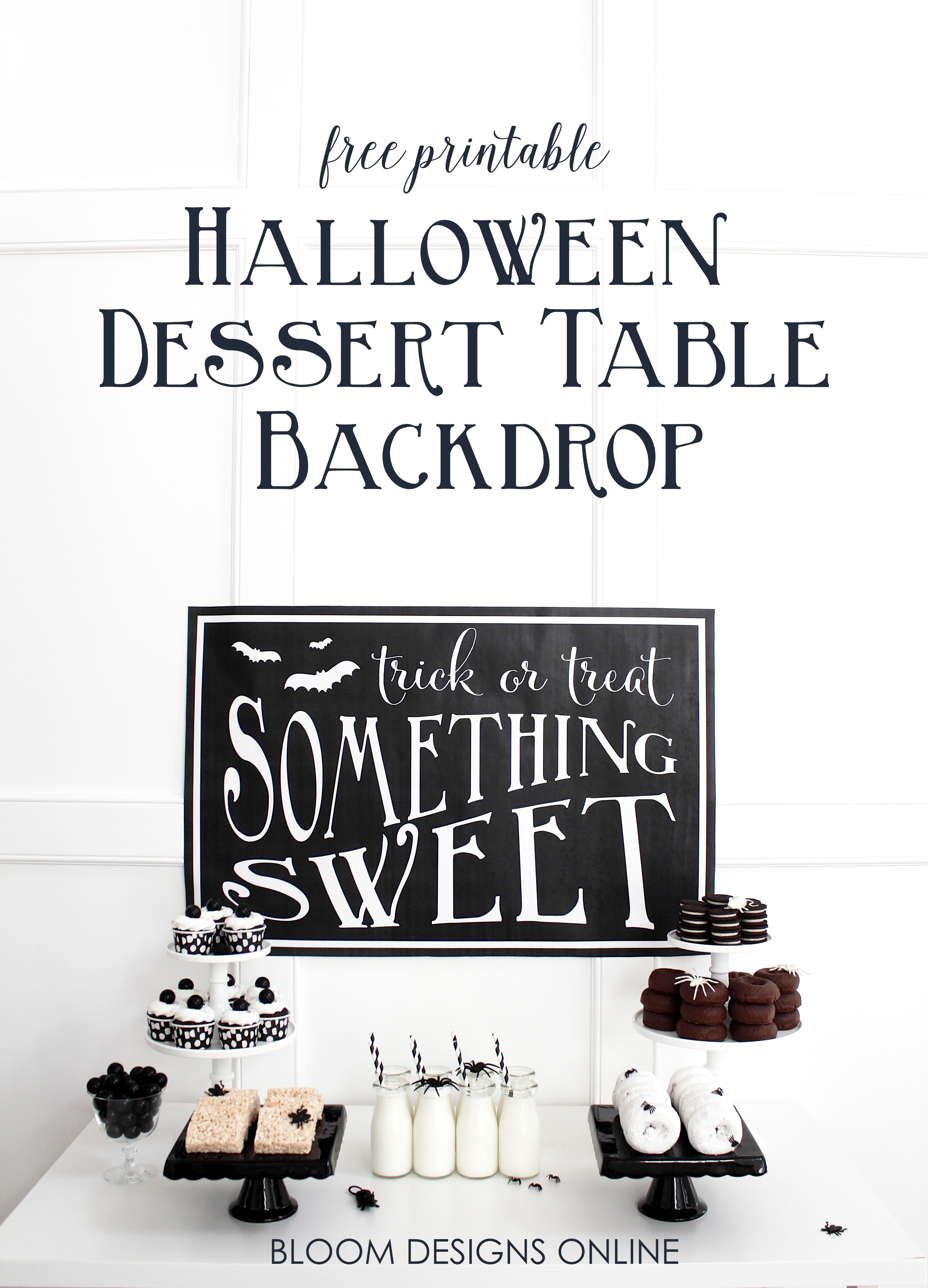 This Trick or Treat, Something Sweet sign makes an adorable but ...