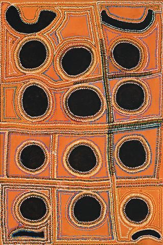 David Hall Tjangala (born c1930) Artists Country near Balgo Hills, 1995 synthetic polymer paint on linen 91.0 x 61.0 cm