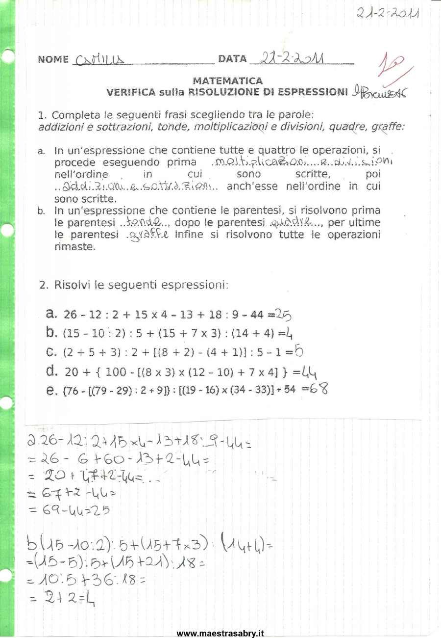 Assez Quaderno delle verifiche di matematica classe quinta | Quaderni di  GY67