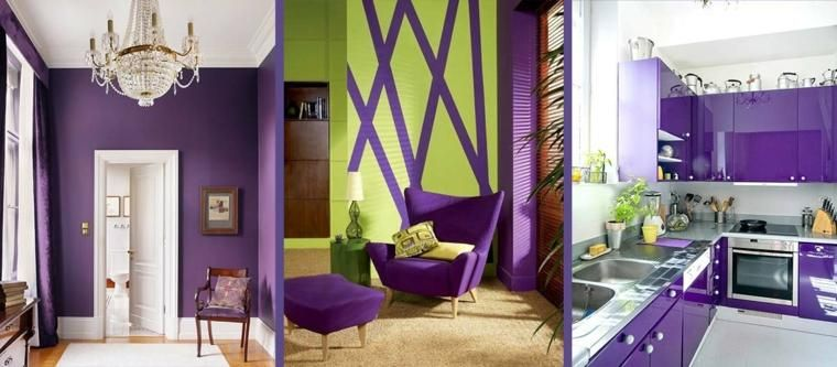 Pantone violett und ultraviolette Farbe in der Innenarchitektur von - schlafzimmer farben feng shui
