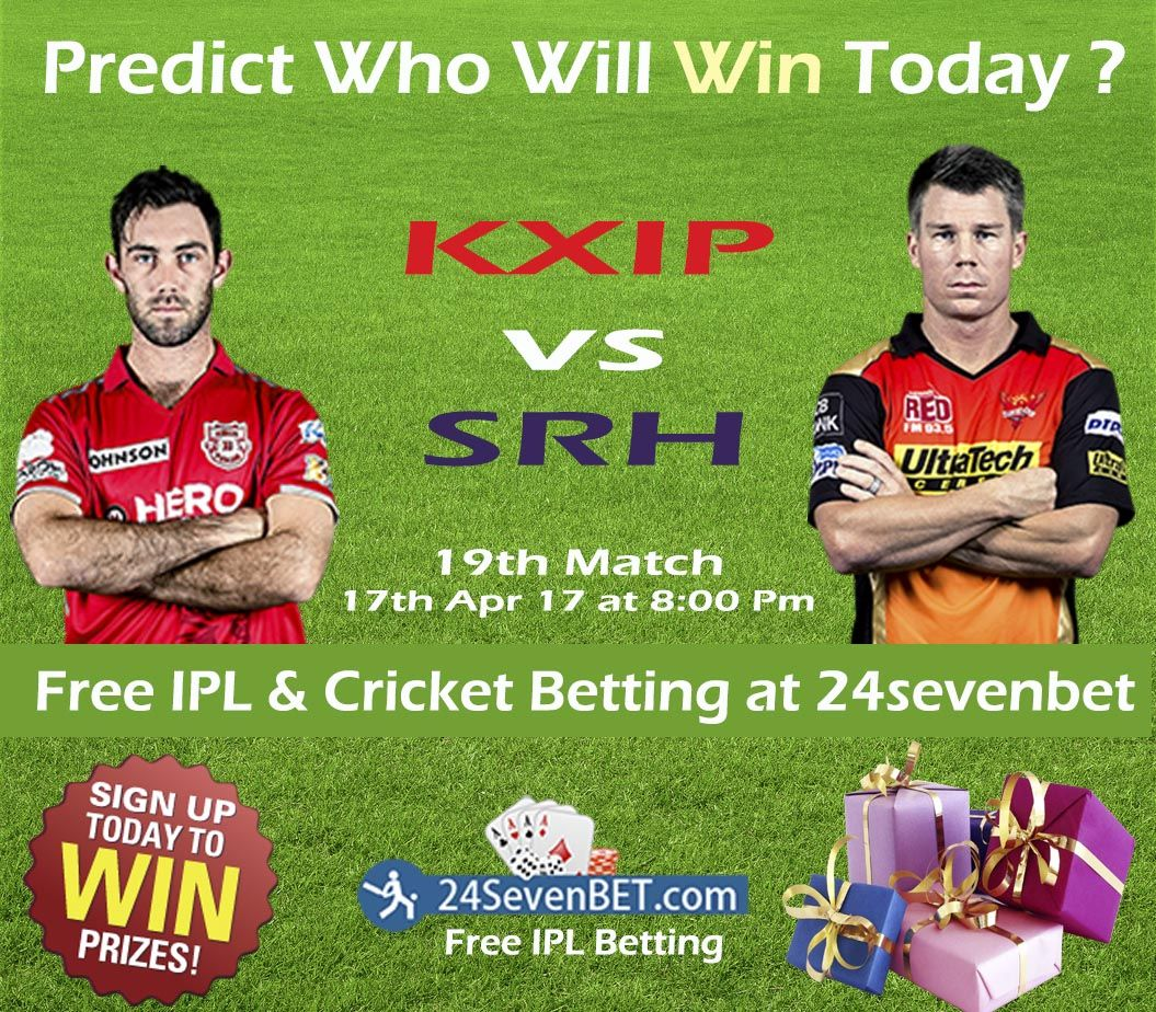 19th Match of the League KXIPvsSRH Predict Who Will Win