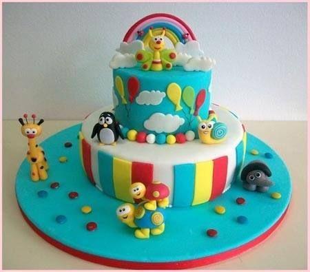 Tortas decoradas cumplea os infantil baby tv 1 a o 130 - Decoracion cumpleanos bebe 1 ano ...