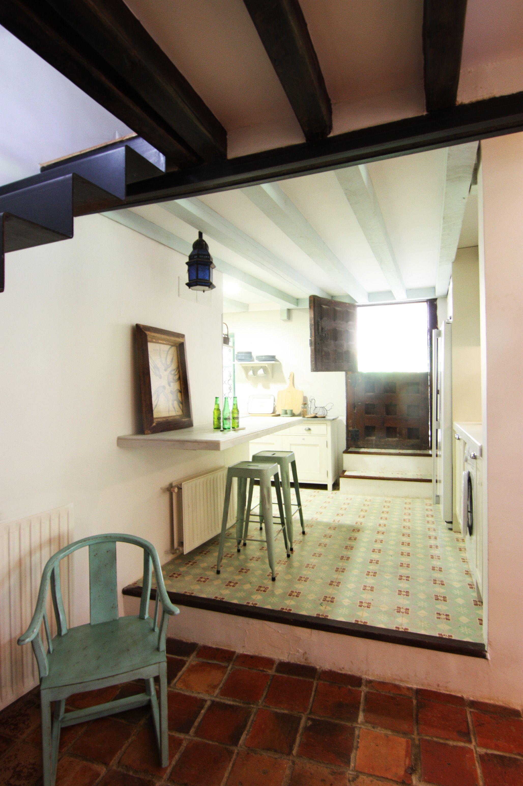 Cocina En El Campo Baldosa Hidr Ulica De Zelart Y Mobiliario  # Muebles Cocina Ikea Faktum