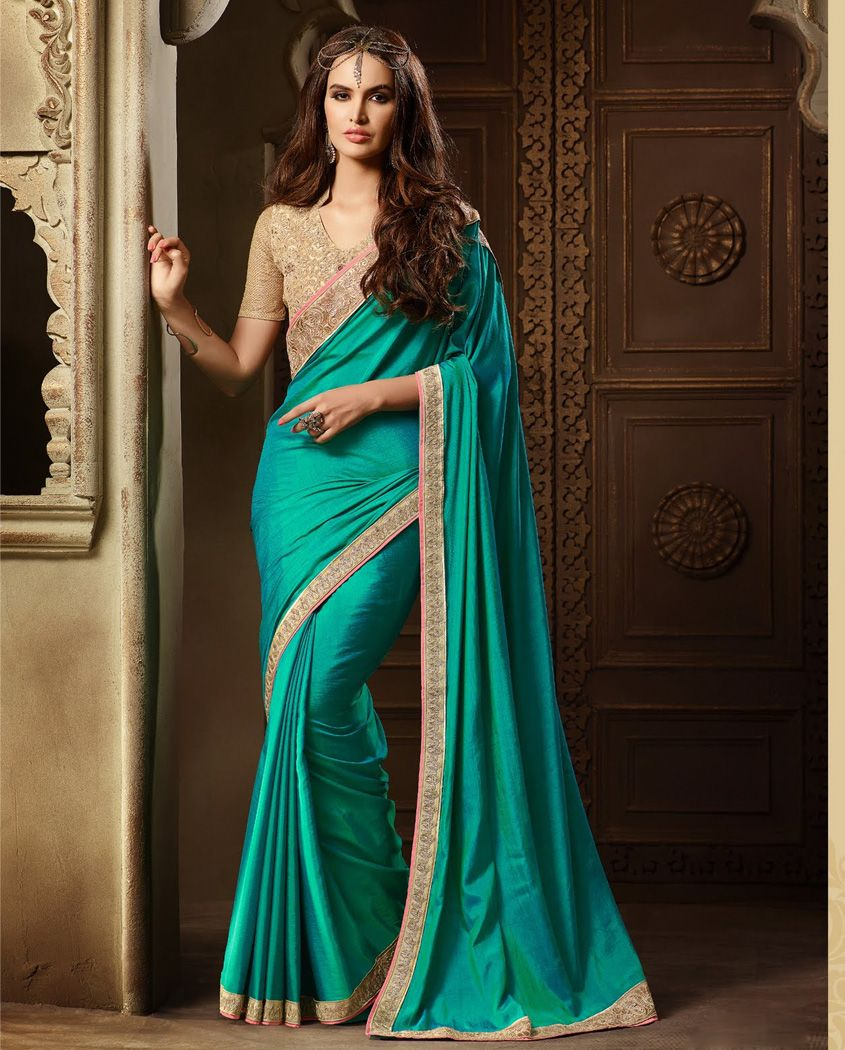 e12dcb3fe34236 Adorned with hand embroidered sari and thread work border 3. Matching heavy  thread work and mirror work embroidered blouse 4. Comes with semi stitched  ...