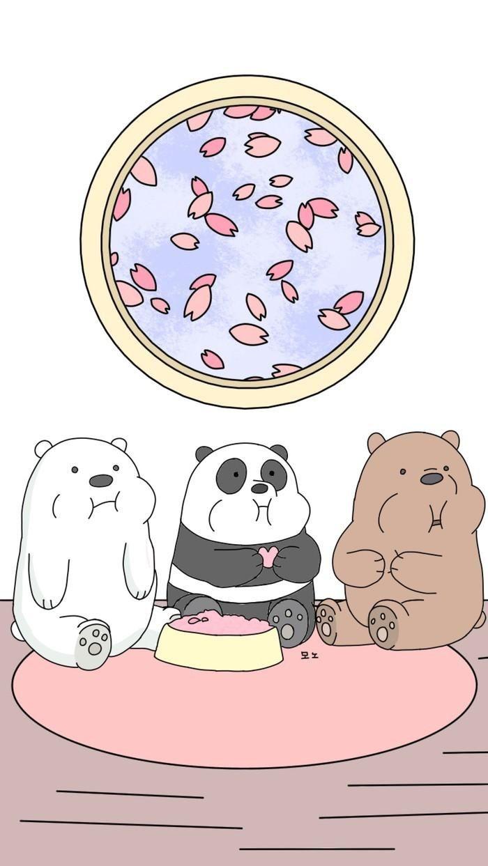 We Bare Bears Aesthetic   Seni Buku, Kartu Lucu, Boneka Hewan