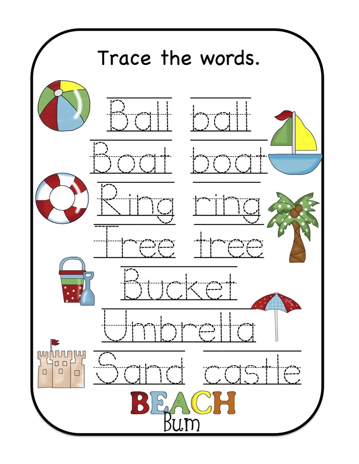 Name Trace Worksheet