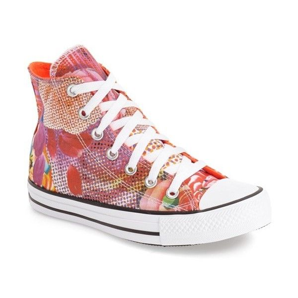 Shoes Outlet - Converse Chuck Taylor Digital Print Hi Floral Womens Trainers