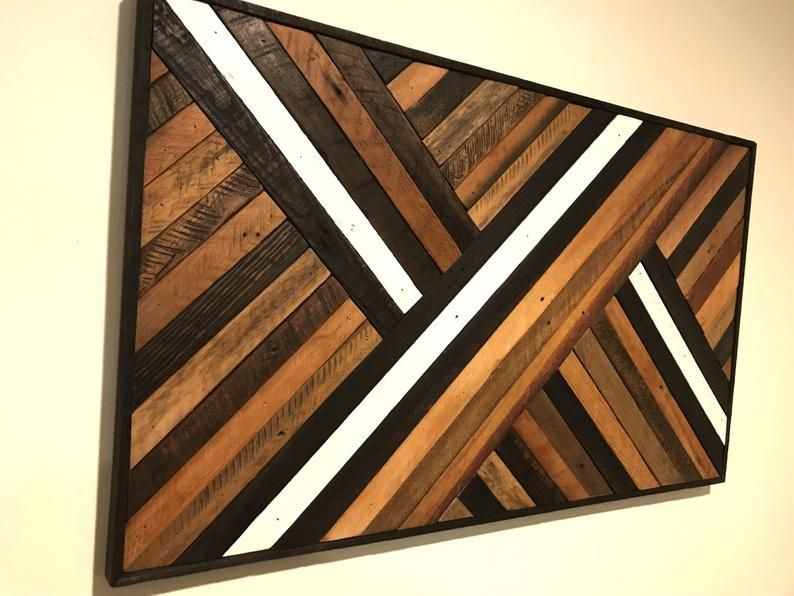 Reclaimed Wood Wall Art, Abstract Pattern