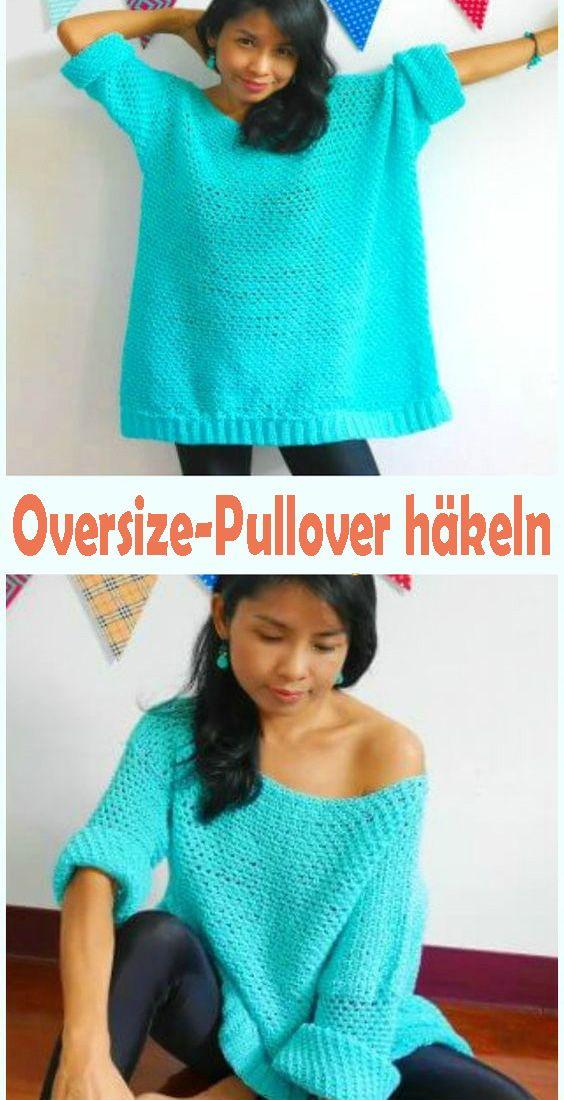 Photo of Oversize-Pullover selber häkeln – Kostenlose Anleitung & Strickmuster