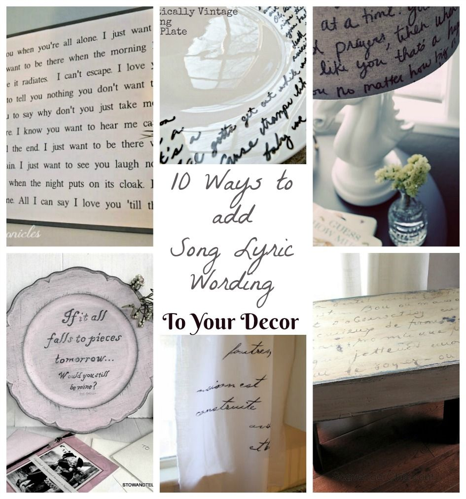 Love that song? Here are 10 how-to projects ideas for putting song ...