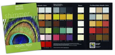 Modern Masters Metallic Paint Collection Color Card Color Card Metallic Paint Modern Masters